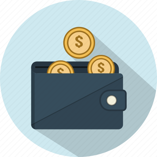 business, cash, coins, money, payment, shopping, wallet icon