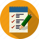 business, list, pen, shopping, todo icon