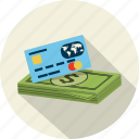 bank, card, cash, credit, finance, money, payment icon