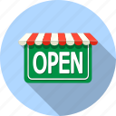 business, open, shop, shopping, sign, store icon