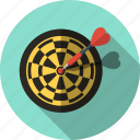 aim, bullseye, darts, goal, marketing, strategy, target icon