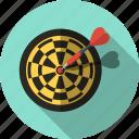 aim, bullseye, darts, goal, marketing, strategy, target icon