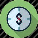 business, finance, money, target icon