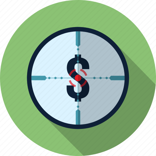 business, finance, money, target icon