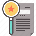 features, increment, letter, list, salary icon