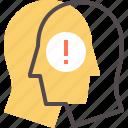 alert, awareness, big idea, brand, risk icon