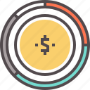 budget, expenditure, income, pay, payment icon