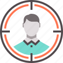 audience, candidate, person, selected, target icon