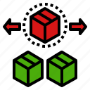 inventory, losing, lost, storehouse, warehouse icon
