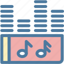 audio, media, mp3, music, sound, track, wave icon