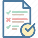 checklist, checkmark, clipboard, report, survey, tasks, todo list icon