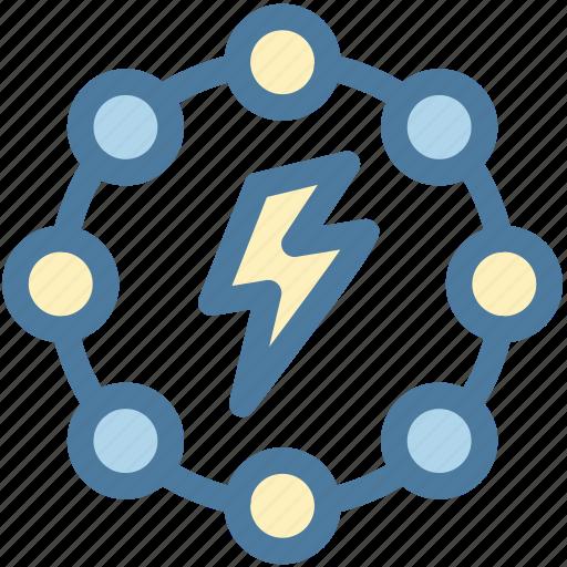 break, conflict, demolition, disruption, energy, light bolt, power icon