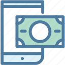 banking, credit card, finance, mobile, pay, payment, phone icon