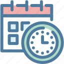 calendar, clock, deadline, efficiency, productivity, time management, working schedule icon
