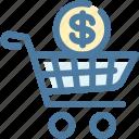 basket, dollar, money, shopping icon