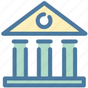 bank, building, capital, finance icon