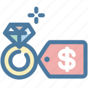 diamond, diamond ring, engagement, price, ring, wedding, wedding ring icon