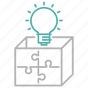 box, idea, marketing, package, solution, strategy icon
