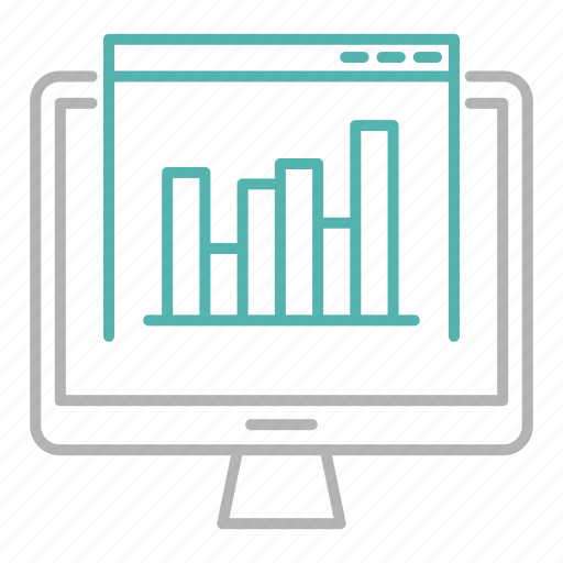 analytics, data, marketing, report, screen, site icon