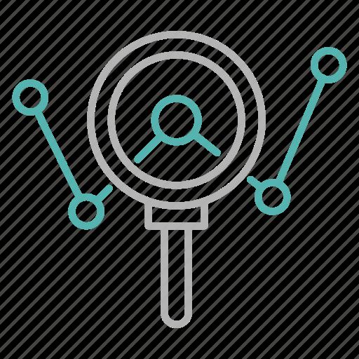 analysing, chart, graph, marketing, seo icon