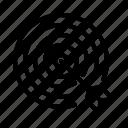 bulls eye, marketing, target, goal, optimization, seo icon