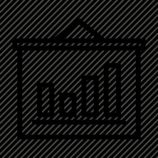 business, chart, financial, flipchart, graph, marketing, statistics icon