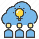 brainstrom, business, connect, finance, marketing icon
