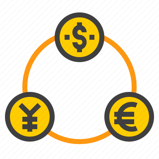 business, connect, exchange, finance, marketing, money icon