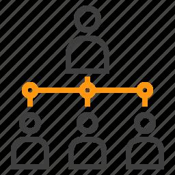 business, connect, finance, marketing, organization icon