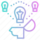 brainstorm, bulb, idea, strategy, think icon
