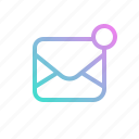 email, interface, mail, message, notification icon