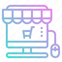 basket, computer, ecommerce, online, store icon
