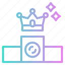 business, crown, money, position icon
