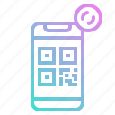 code, money, pay, phone, qr icon