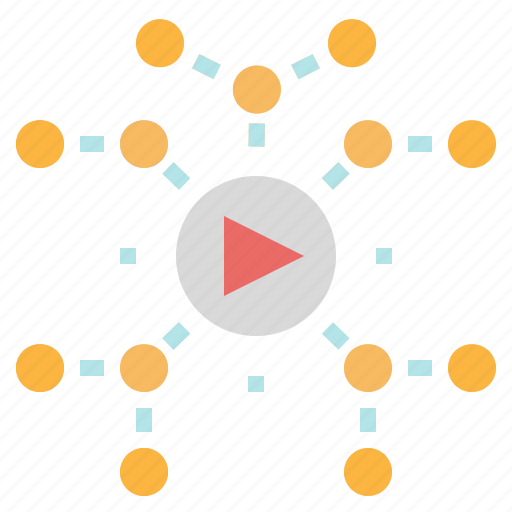 marketing, site, video, viral, web icon