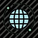 planet, earth, globe, internet, web