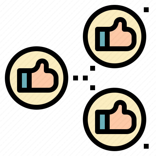 gesture, hand, like, recommend, share icon