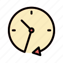 clock, clockwise, passing, refresh, time icon