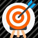 aim, archery, focus, goal, success, target icon icon