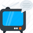 chat, comment, computer, internet, media, screen, tv icon icon