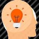 brain, business, design, idea, think icon icon