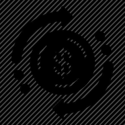 business, business and finance, circular arrows, dollar, dollar symbol, finances, financial icon