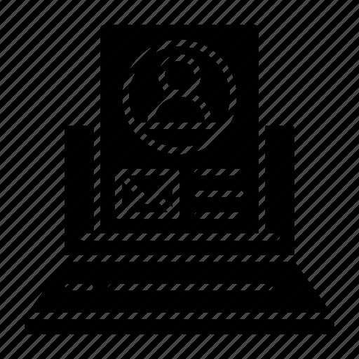 avatar, computer, laptop, profile, social, ui, user icon