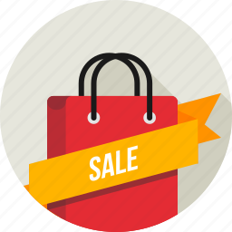 carry bag, cart, label, online, ribbon, sale, shopping icon