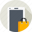 carrybag, cart, ecommerce, mobile, online, shopping icon