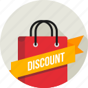 carrybag, cart, discount, label, online, ribbon, shopping icon