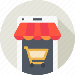 cart, ecommerce, mobile, online, shop, shopping, store icon