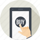 buy, gesture, mobile, online, product, shopping, store icon