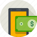 currency, dollar, method, mobile, online, payment, sign icon