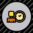 human, marketing, time, user icon